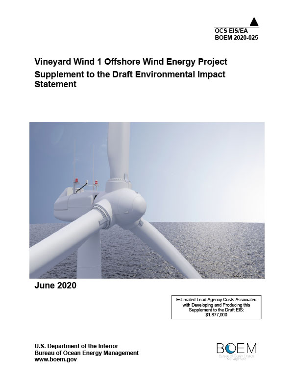 Vineyard Wind Offshore Wind Energy Project Draft Environmental Impact Statement