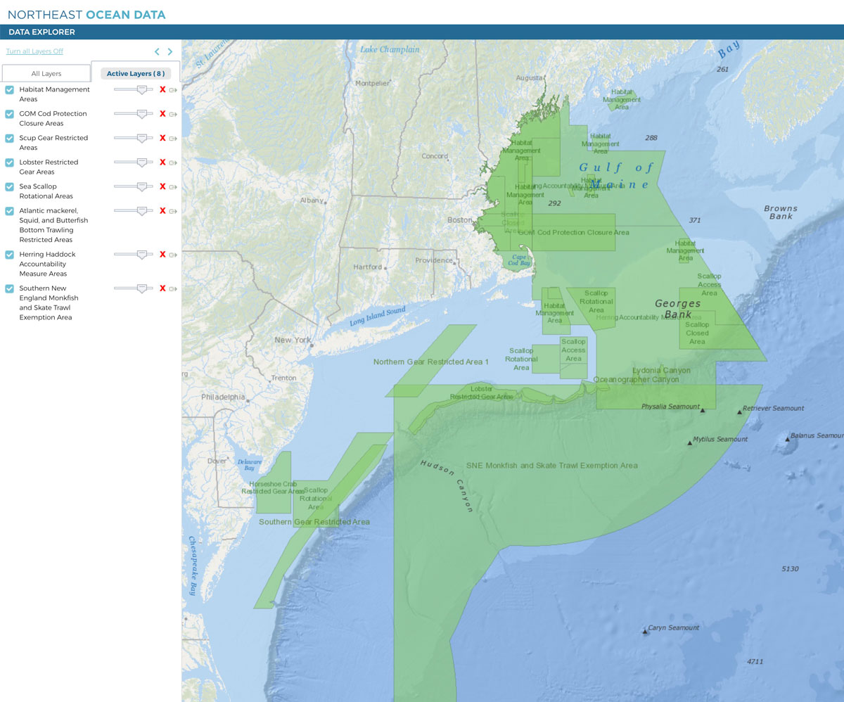 Screenshot of Portal's updated map of fisheries management areas