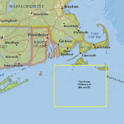 Screenshot of Northeast Ocean Data Portal map